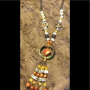 Jewelry - New Long Stone & Glass Necklace